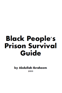 Black People's Prison Survival Guide cover pic
