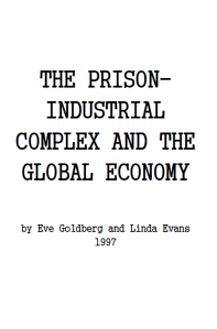 The Prison Industrial Complex and the Global Economy cover pic